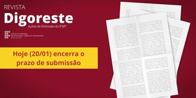 Proex: Hoje (20/01) é o último dia para submissão de resumos para 5ª Digoreste