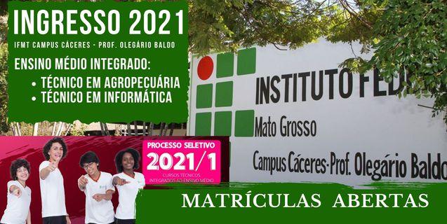 Matrículas por e-mail: IFMT Cáceres realiza até a próxima sexta (22.01) matrículas de convocados em seletivo de ensino médio integrado