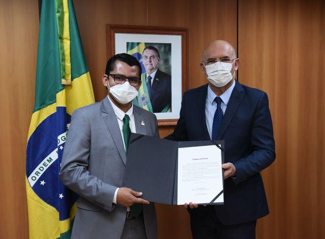 Cerimônia de posse em Brasília do reitor do IFMT, Julio dos Santos