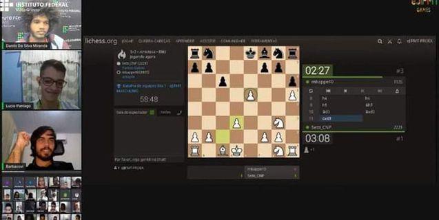 Delegação do Campus Juína no 1° eJIF (jogos eletrônicos) conquista vaga na etapa nacional de xadrez