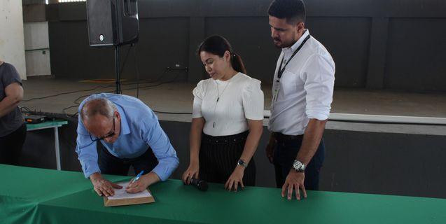 IFMT Rondonópolis e Prefeitura assinam ordem de serviço para construção da Praça Comunitária