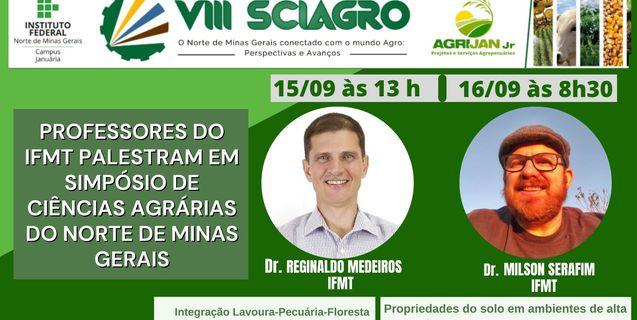 Pesquisadores  do IFMT Cáceres realizam palestras em Simpósio de Ciências Agrárias