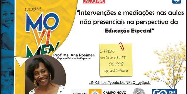 IFMT de Campo Novo do Parecis cede seus profissionais Tradutores Intérpretes de Libras para atuação em Live organizada pela Secretaria Municipal de Educação