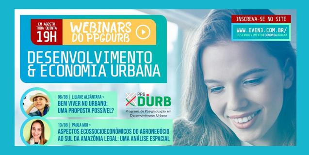 Programa de Pós-Graduação em Desenvolvimento Urbano do IFMT Várzea Grande dá início HOJE aos Webinars do PPGDURB